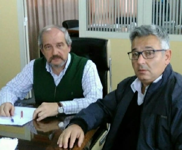Imagen de archivo. Ciminelli junto al Diputado Provincial, Mauricio Barrientos.
