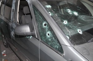 Imagen de los impactos de bala.