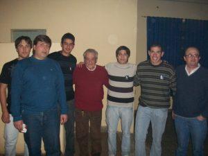 Osvaldo Rodrigo en una visita realizada a Rawson el 11 de junio de 2010.