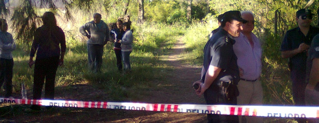 Lugar donde fue encontrado el menor sin vida: Foto gentileza: hoyrojas.com.ar