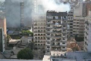 Imagen de la explosión en Rosario.