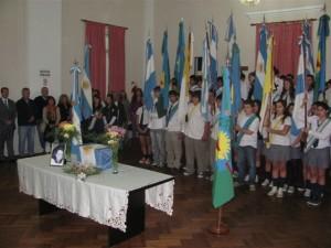 Imagen del velatorio de  Liliana Ross en el Concejo Deliberante de Chacabuco. Foto gentileza Pablo Pastore del diario De Hoy de Chacabuco.
