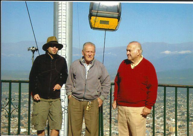 El Rusito no estuvo solo en Salta, lo acompañaron Guillermo Talento y Norberto Pérez.