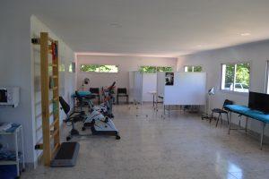 """Imagen de la nueva sala de kinesiología """"Dr. Benedicto Sonenmberg"""" en el Hospital de Rawson."""