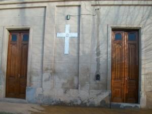 Frente de la Capilla San Cayetano.