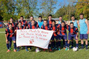 San Lorenzo juega en Chacabuco y lo podes seguir a través de la Radio de Rawson. Foto gentileza: Fernanda Saisi.