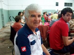 Roberto Telch, durante la Cena por el  60º Aniversario de San Lorenzo de Rawson.