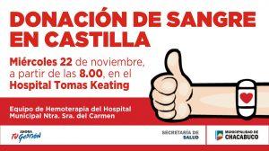 Donación de sangre en Castilla.