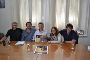 Mauricio Barrientos recibió al Director Chacabuquense, Becky Garello.