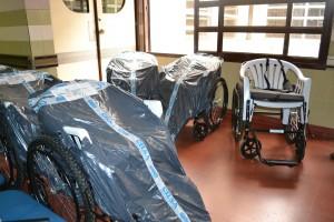 Sillas de ruedas para el Hospital y los CAPS.