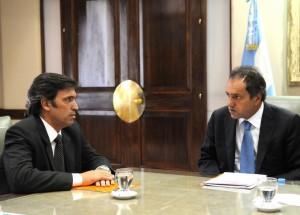 Reunión de Scioli con Skansi: apoyo a la continuidad del proyecto provincial.