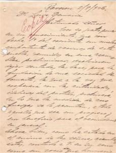Facsimil de la copia de Acta del Acta Preliminar de la Fundación de la Sociedad de Fomento 2/8/1926.