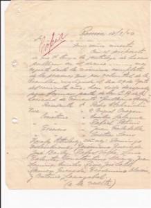Facsimil de la copia del Acta de designación de los miembros de la Comisión Administrativa de la Sociedad de Fomento Guillermo Rawson enviada la los diferentes medios de comunicación de la zona. 13.9.1926.