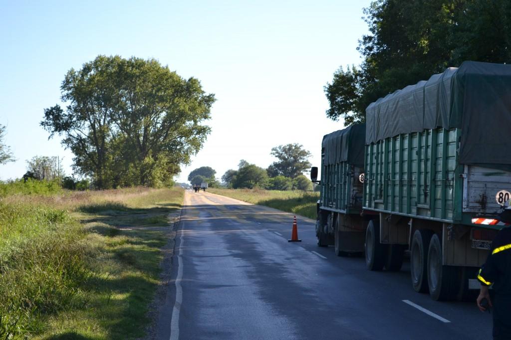 Lugar dónde el camión pierde la carga.