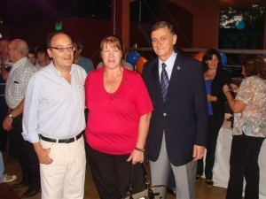 Jorge Moreira junto a Stolbizer y Binner.