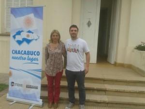 Deled. Mcipal. de Castilla, María L. çAlvarez junto a Emilio  Scandizzo.