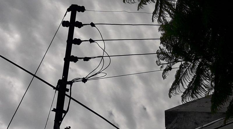 Corte programado de energía eléctrica.
