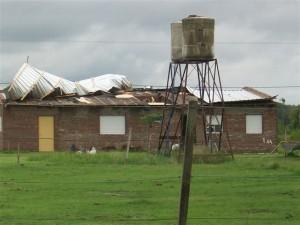 Vista de la vivienda ubicada en avenida Chacabuco entre calles Saavedra y Córdoba..