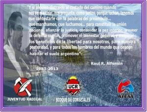 Festejo 30 Años de Democracia en Chacabuco.