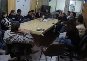 Los candidatos a concejales del Frente Progresista Cívico y Social reunidos con Bomberos Voluntarios de O´Higgins.