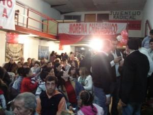 Asistentes a la presentación de los candidatos Radicales.
