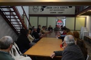 Reunión de la Lista 14 en el Comité Alem de la UCR de Chacabuco.