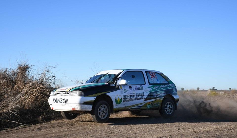Rudecindo Unanue en su debut en el Rally de Rojas, clase N7
