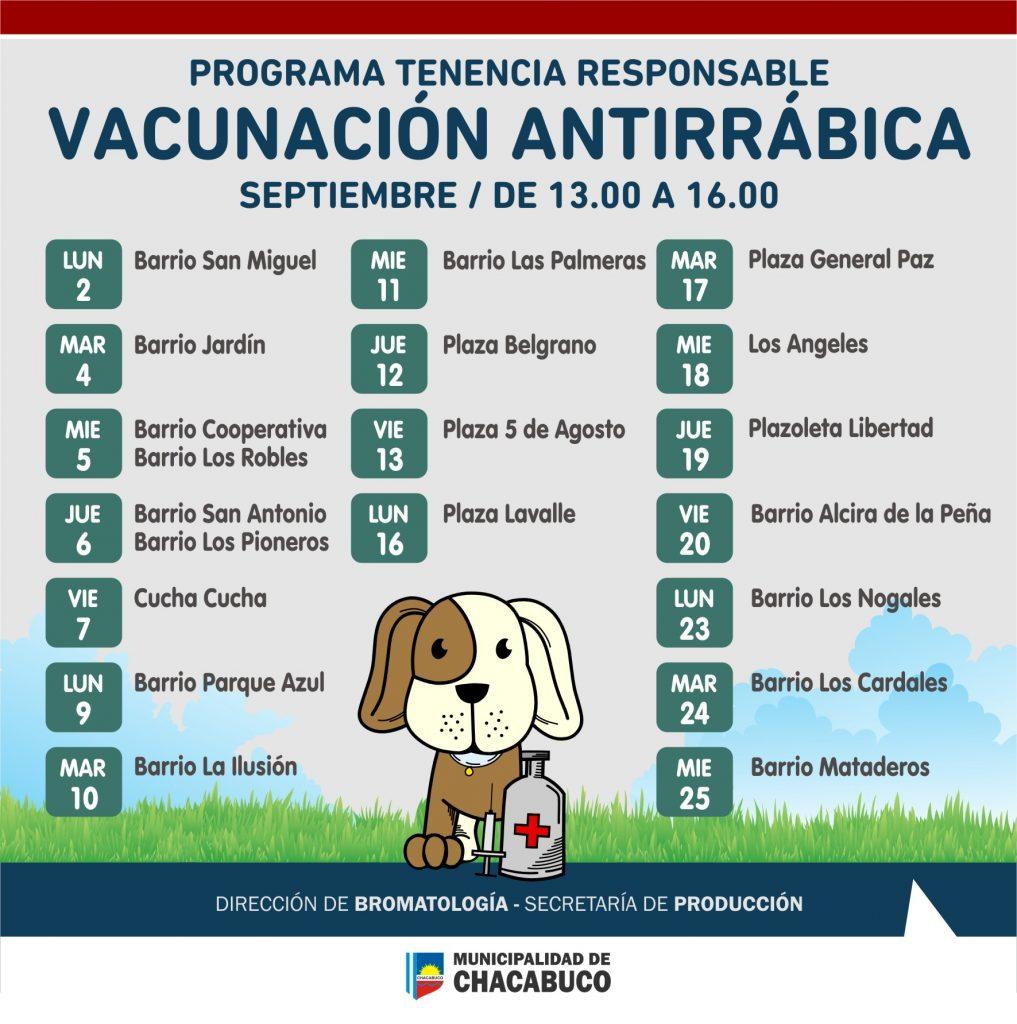 Continúa la campaña de vacunación anitrrábica 2019