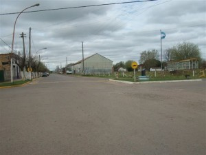 Lugar dónde fuera agredido el vecino de Rawson y que terminará con heridas graves.