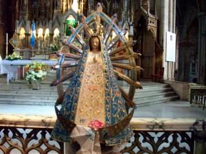 Replica a esta imagen de la Virgen de Luján llega a Rawson.