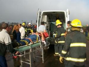 Barbosa luego de ser rescatado fue llevado al Hospital de chivilcoy.