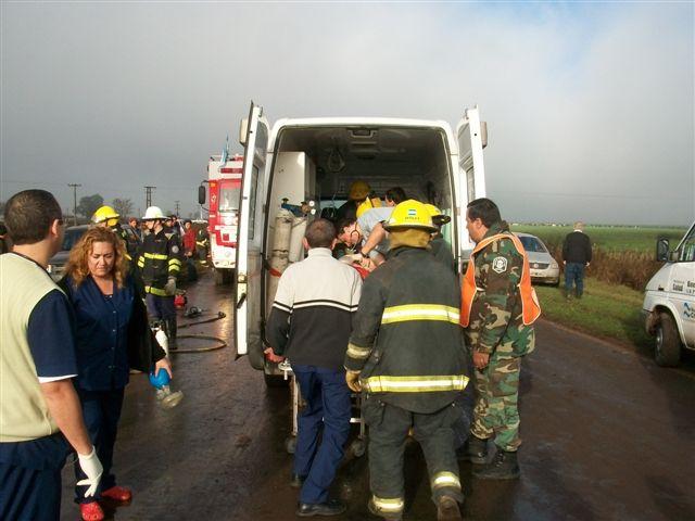 Roberto Jaime Barbosa de la ciudad de Arrecifes fue trasladado al Hospital de Chivilcoy.