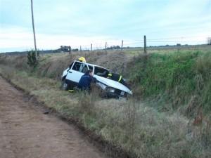 El Fiat 147 Spazio accidentado.