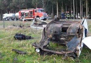 La F100 quedó destruída.