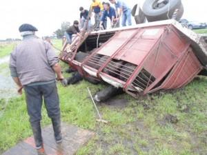 Imagen del accidente tomada por Defensa Civil Chacabuco.