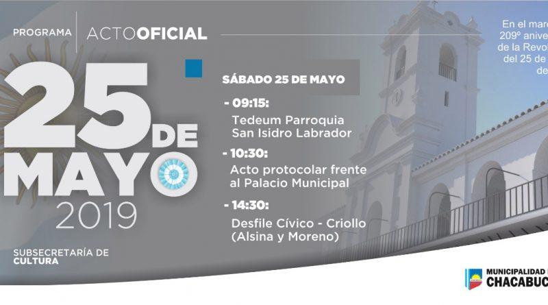 25 de Mayo: acto oficial