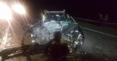 Imagen de uno de los autos involucrados en el accidente. Foto gentileza: Gloria Ubeda