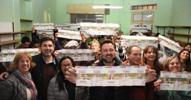 Aiola en la inuguración del local de Juntos por el Cambio en Castilla