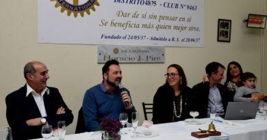 """Aiola en la cena del """"Rotary Club Chacabuco"""""""