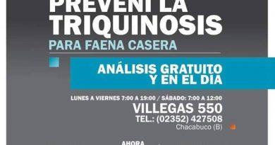 Bromatología: análisis gratuito y en el día para faena casera