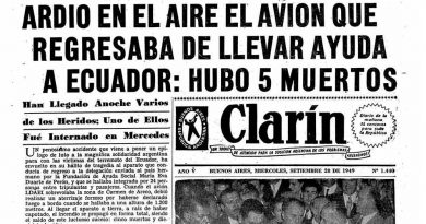 Tapa diario Clarín del 28 de septiembre de 1949