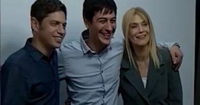 Carnaghi junto a Kicillof y Magario.