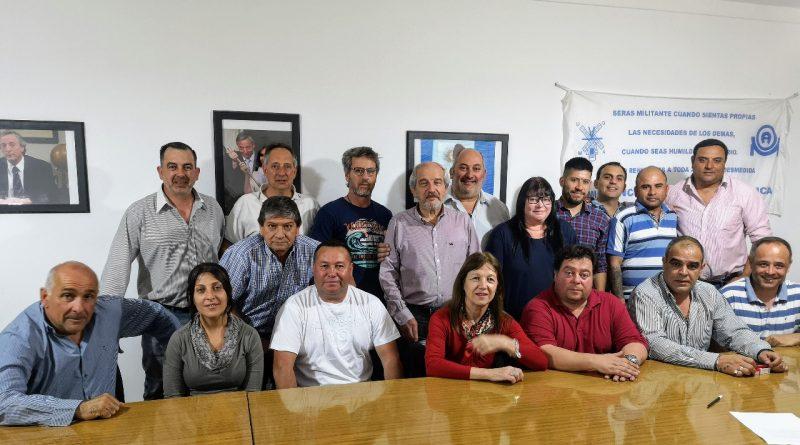 La mesa sindical expresó el apoyo a la candidatura de Ricardo Ciminelli.