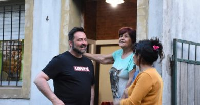 Aiola en el Barrio Los Abuelos