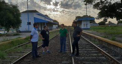 Golía recorrió la estación de trenes de Chacabuco