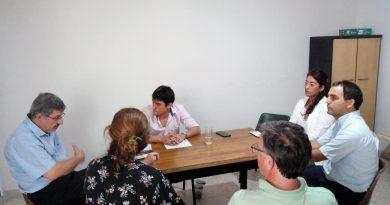 Reunión del Director de Región Sanitaria con Carnaghi y Peralta