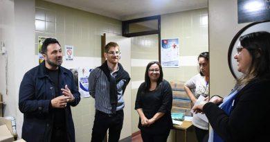Aiola en el Hospital de Chacabuco