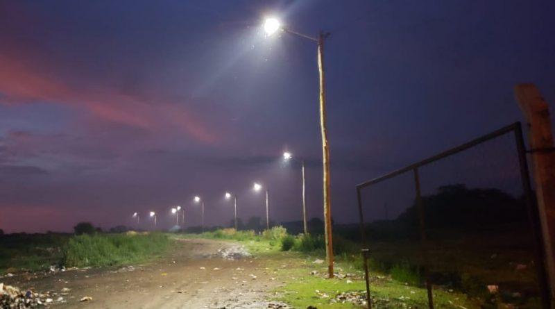 Luminaria led en el basural municipal