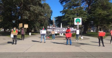 El Plenario De Trabajadoras del PO presente en el acto del #3J en Chacabuco