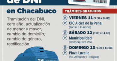 RENAPER: Operativo DNI en Chacabuco